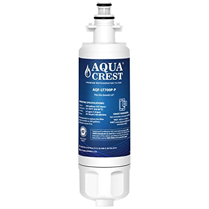 AQUACREST NSF 53&42 ADQ36006101 Refrigerator Water Filter, Compatible with  LG LT700P, Kenmore 9690, 46-9690, ADQ36006102