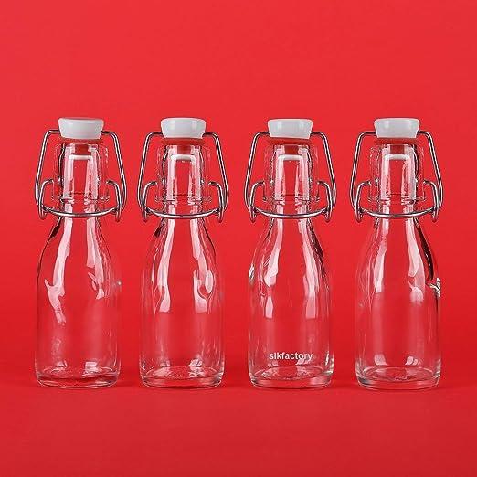 12 botellas de vidrio con una tapa ml 100 de la fábrica SLK ...