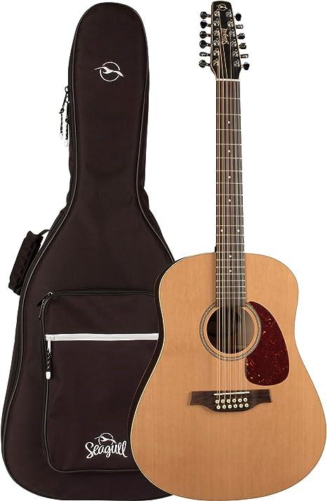 Seagull Coastline Cedar 12 - Guitarra acústica de 12 cuerdas con ...