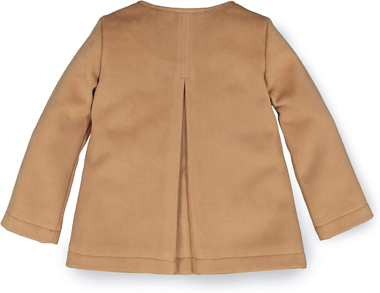 Hope /& Henry Girls Soft Camel Wool Collarless Peacoat