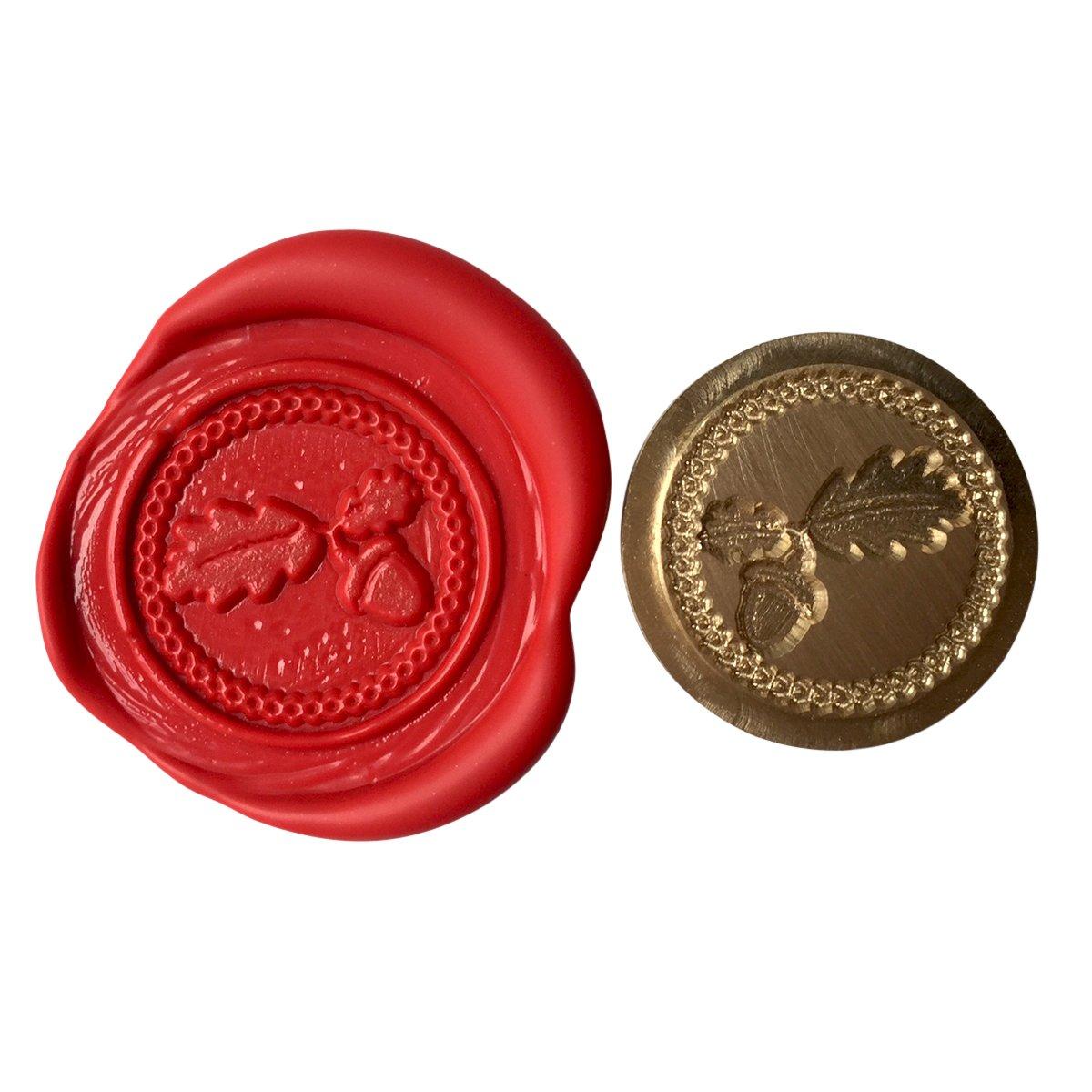 A Single OAK LEAVES & ACORN Coin Seal XWSC026 (S30) GTR-Gifts