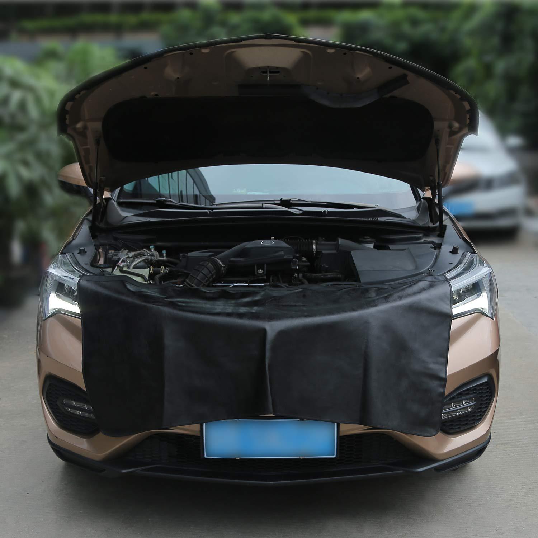 Rupse Automobile Couverture Magn/étique /étanche avec Crochets M/écanicien Tapis de Protection Aile Fender de Voiture Lot de 3pcs Grande Taille pour SUV