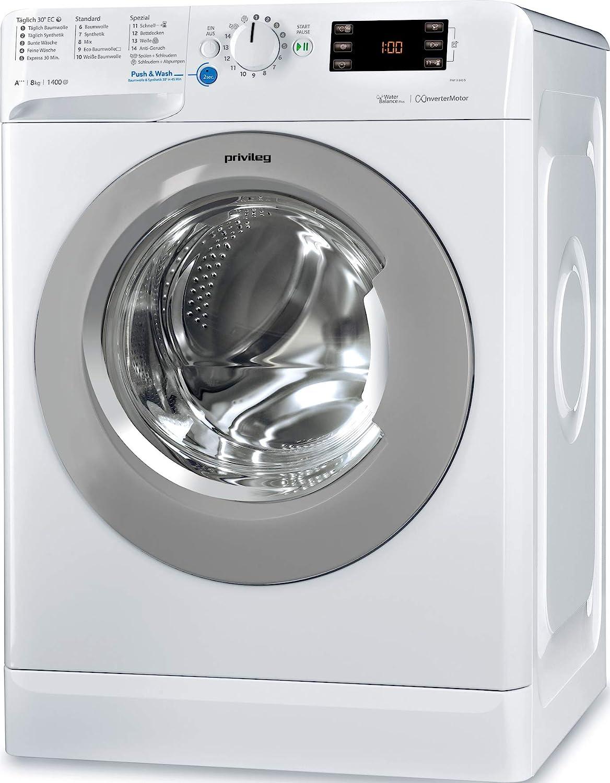 Privileg PWF X 843 S Waschmaschine Frontlader / A+++ -10% / 1400 UpM / 8 kg / Mengenautomatik/Startzeitvorwahl/Maschinenreinigung/Inverter Motor/Wasserschutz/Daunen/Wolle/Kindersicherung: Amazon.de: Elektro-Großgeräte -