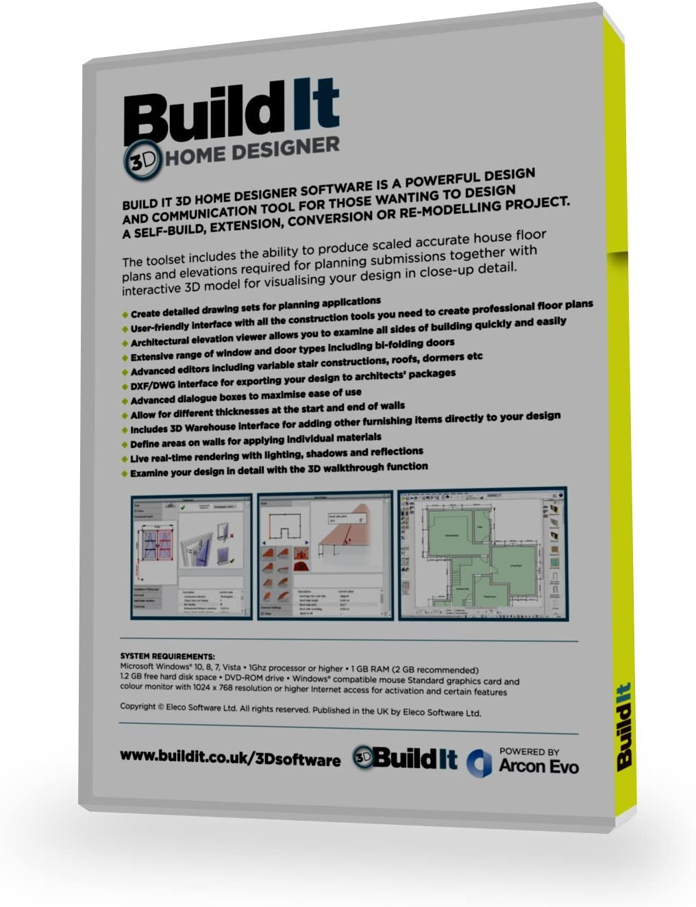 Build It 3d Home Designer Software For The Self Builder Or Home Improver Looking To Design Their Own Home Extension Or Complex Renovation Amazon Co Uk Software