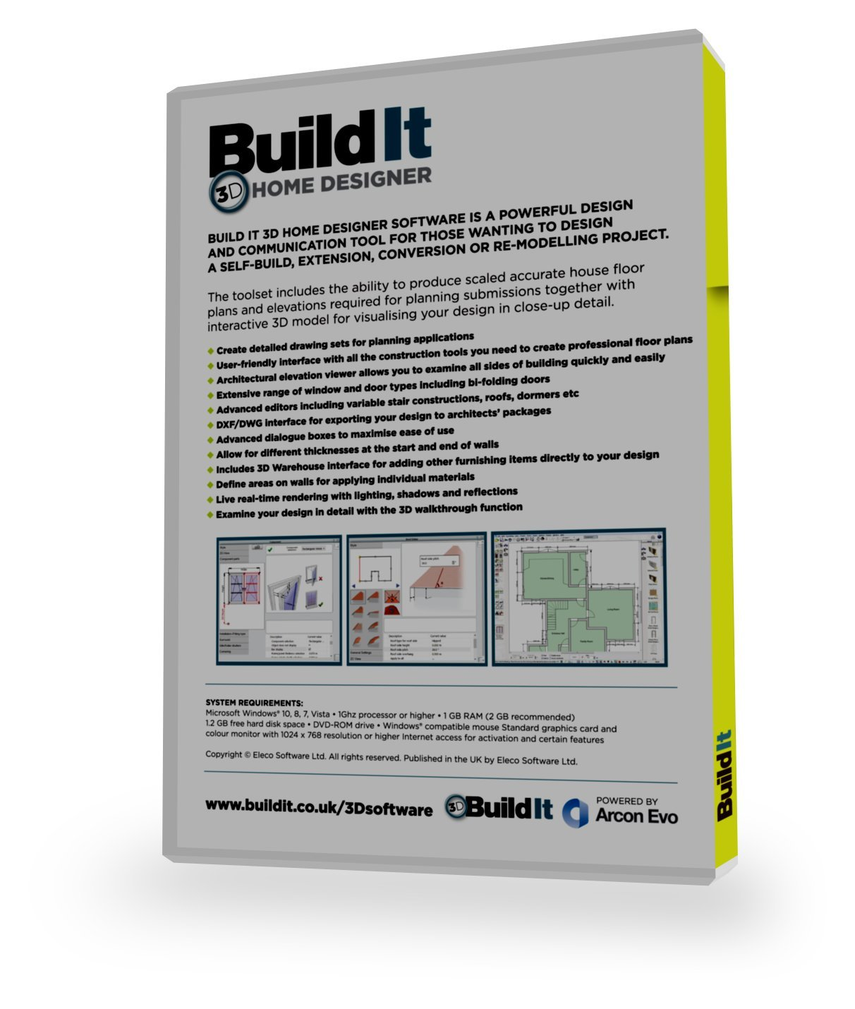 Build It 3D Home Designer Software For The Self Builder Or Home Improver  Looking To Design Their Own Home, Extension Or Complex Renovation:  Amazon.co.uk: ...