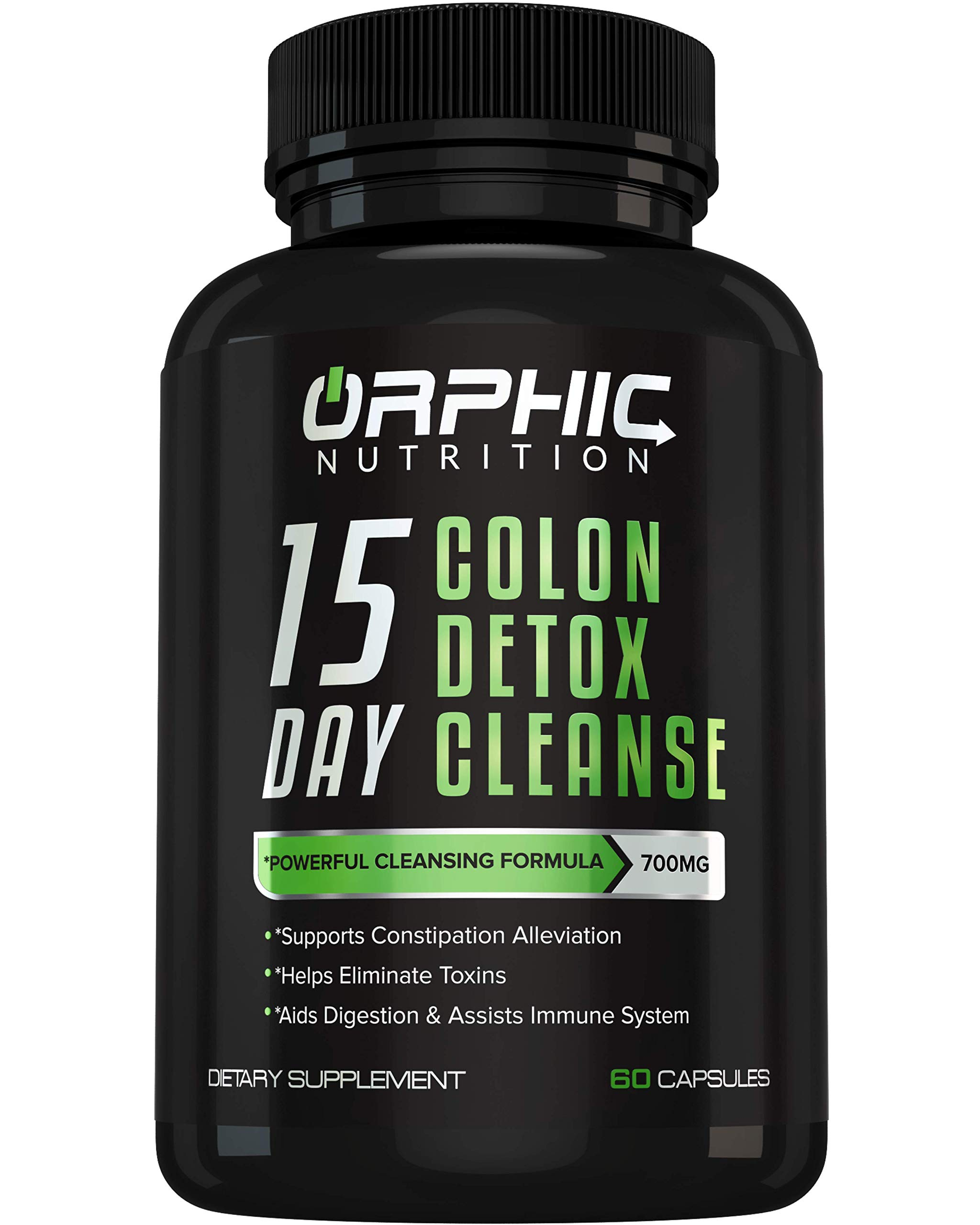 Colon Cleanser Detox for Weight Loss & Bloating Relief - 15 Day Fast-Acting Cleanse for Constipation Relief, Intestinal Cleansing & Detoxification. Formulated with Probiotics to Flush Toxins