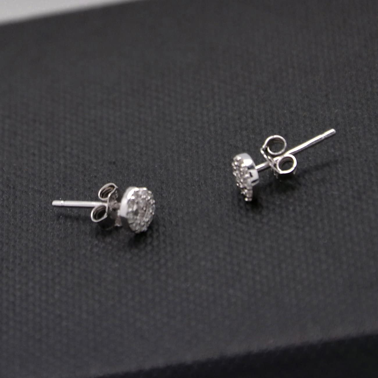 .925 Sterling Silver Small Mouse Stud Earrings 5//16 inch