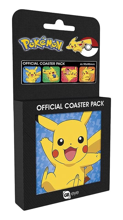 GB Eye LTD, Pokemon, Pikachu, Pack de 4 posavasos: Amazon.es: Hogar