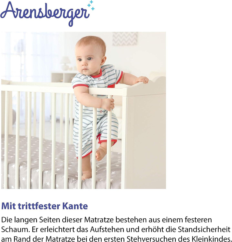 H/öhe 10cm punktelastischer Komfortschaum Arensberger /® Kindermatratze Stella Abnehmbarer Bezug 70 x 140cm RG 25 kg//m/³ wendbar