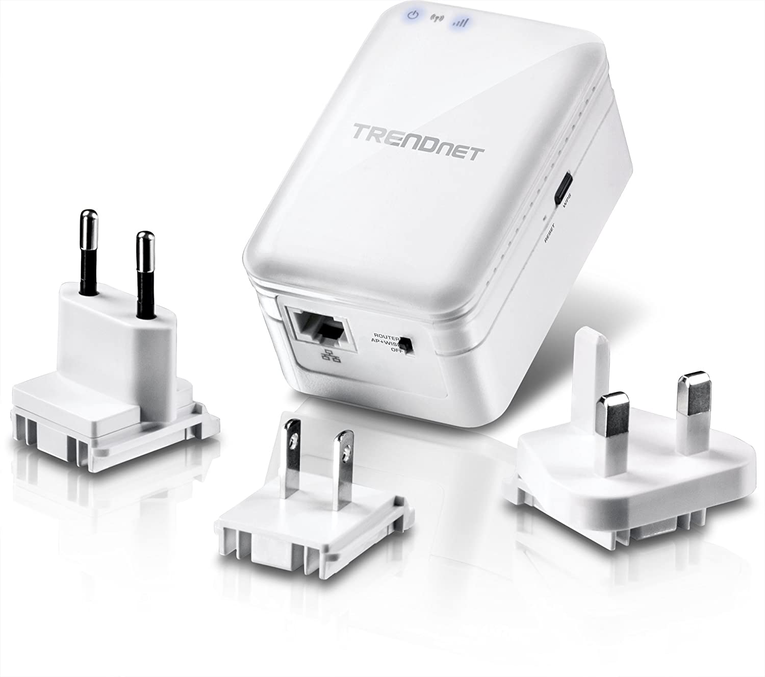 TRENDnet AC750 Wireless Travel Router, Wisp, AP, Repeater Mode, North America/Euro/UK Plugs(TEW-817DTR)