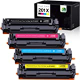 JARBO Compatible Toner Cartridges Replacement for HP 201X 201A CF400X CF400A, 1 Set, Use with HP Laserjet Pro MFP M277DW M277 M277N M277c6 M252DW M252 M252N Printer