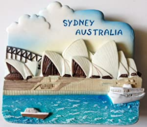 Opera House SYDNEY AUSTRALIA Resin 3D fridge Refrigerator Thai Magnet Hand Made Craft. by Thai MCnets
