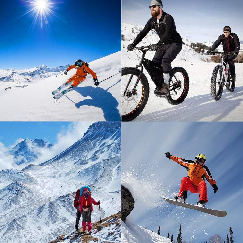 Cache-Cou pour Casque de Moto v/élo Anti-Froid et Respirant Cache-Cou Sports dhiver Snowboard NAIVEDREAM Bonnet de Ski en Tricot Coupe-Vent pour Homme//Femme et Enfant