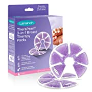 Lansinoh TheraPearl 3-in-1 Hot or Cold Breast Therapy Pack with Covers, 1 Pair (2 Count), Heating Pad and Ice Pack for Breastfeeding Relief, Nursing Essentials
