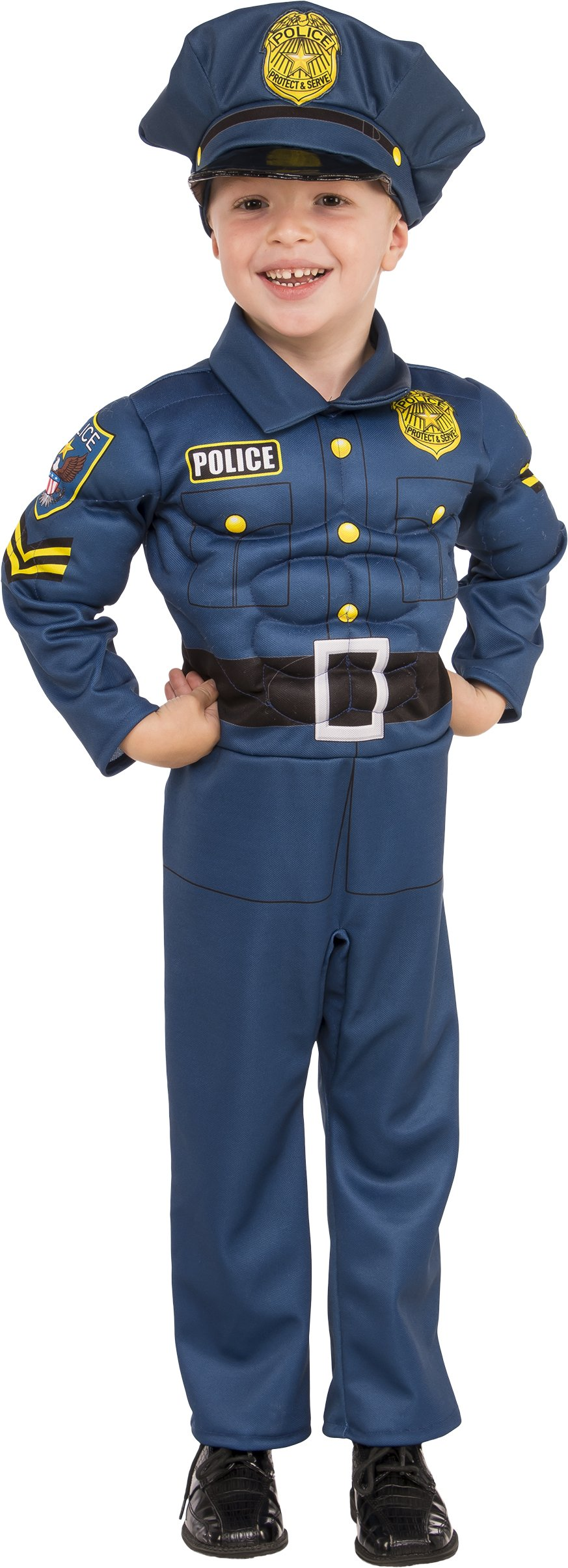 Rubies Costume Child's Top Cop Costume, Medium, Multicolor