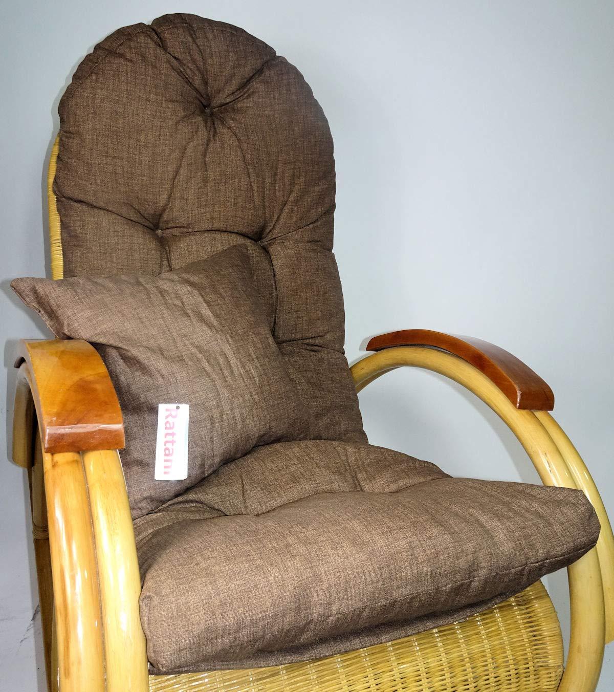 Rattani Auflage//Polster f/ür Schaukelstuhl 130 x 50 x 12 cm Made in EU Ersatzpolster Gr Liegestuhl Zierkissen Nuevo Loneta Brown