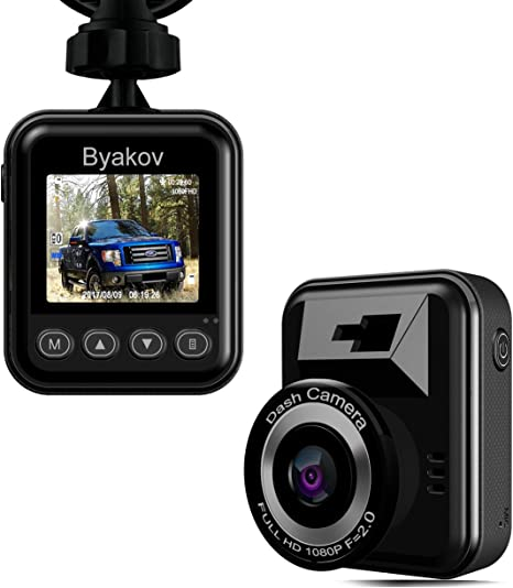 Byakov Dash Camera for Cars Camera Full HD 1080x 720p 1.5inch LCD Screen Mini Dash Cam for Car 170 Degree Angle Car Dash-Cam Dash cam