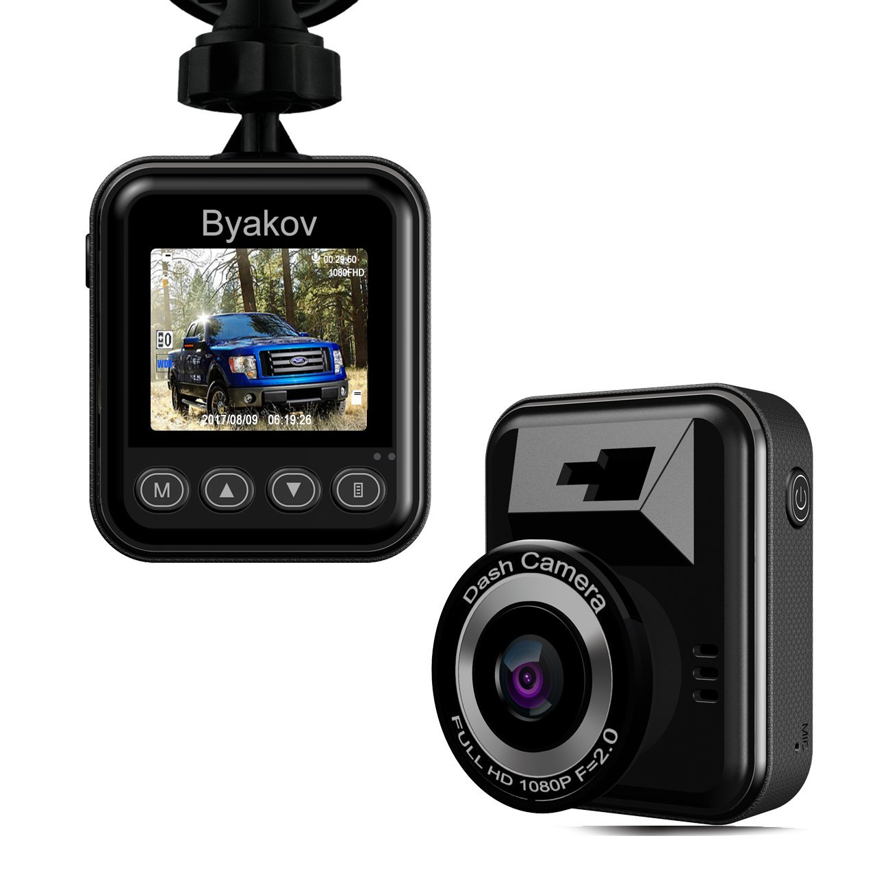 Dash Cam Byakov Full HD in Car Camera 1080P 1.5inch mini dash camera for cars