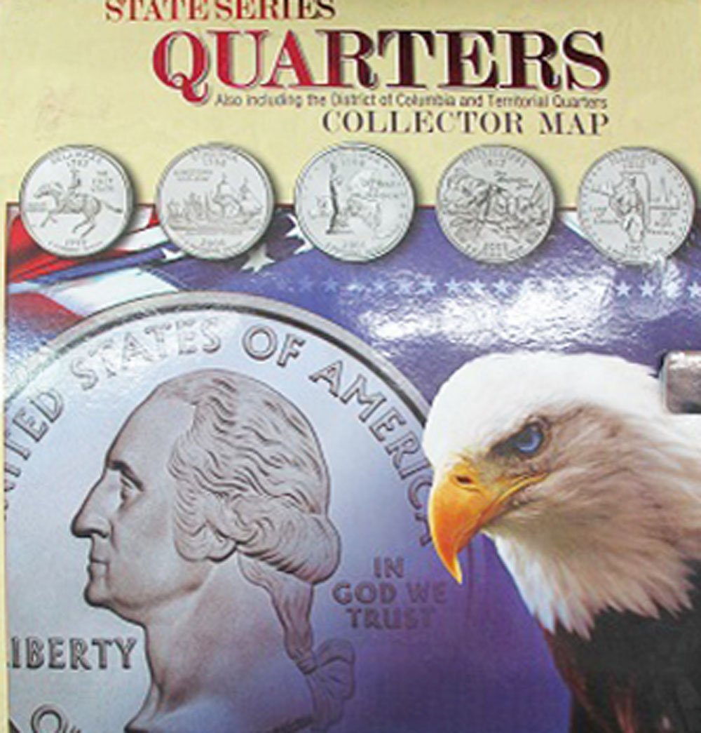 Amazoncom State Series Quarters Collector Map Also Including - Us state quarter map holder