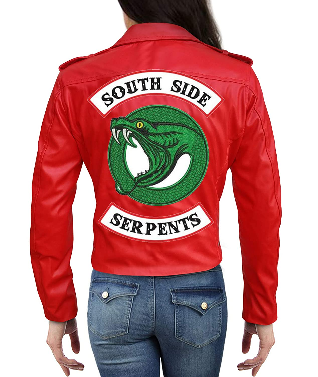Riverdale Cheryl Blossom Southside Serpents Jacket In Red