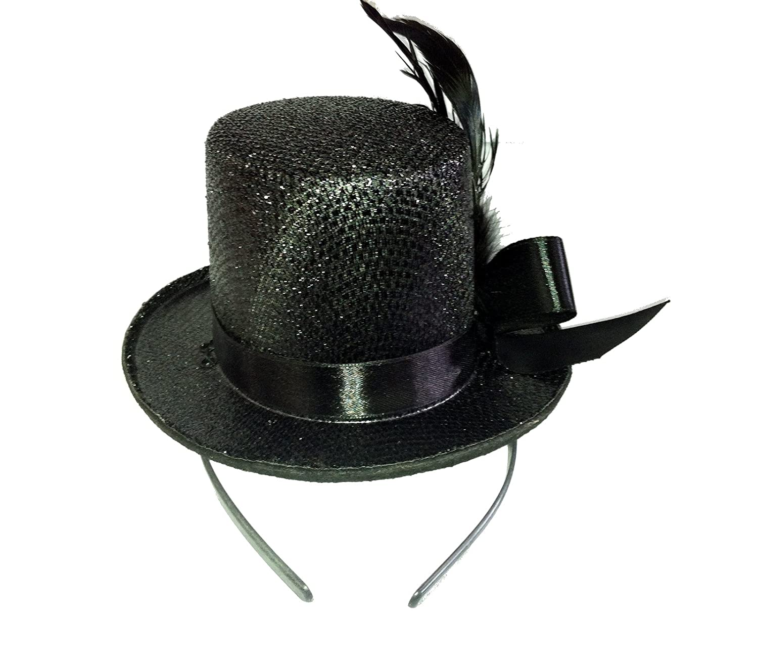 Amazon.com  Jacobson Hat Company 24610 (Black) Mini Glitter Top Hat   Clothing 6b492885877