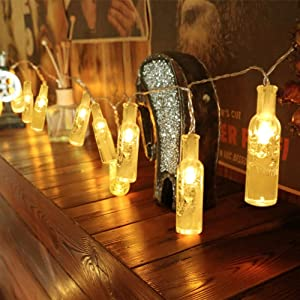 WAYNEWON LED Wine Bottles Lights, Battery Operated String Lights with Remote Control – Best Wedding Party Home Christmas Decorations (Warm White Glow)