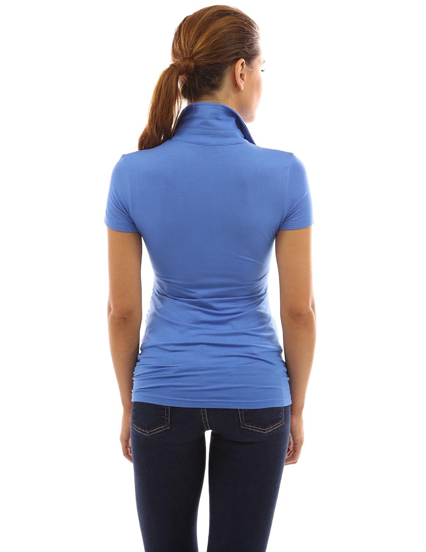 PattyBoutik Mama Collar Short Sleeve Maternity Polo Shirt