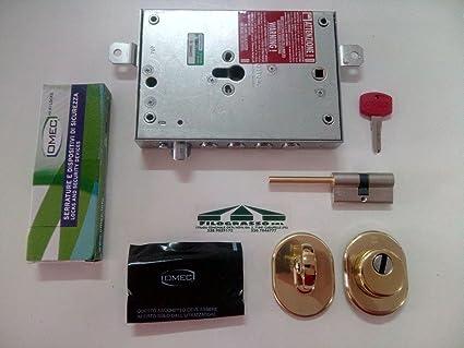 Kit de cerradura para puerta blindada, de cilindro europeo, original, montura con cilindro