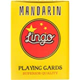 Lingo Playing Cards Tin Box | Travel Case | Language Learning Game Set | Fun Visual Flashcard Deck to Increase Vocabulary and Pronunciation Skills - 54 Useful Phrases