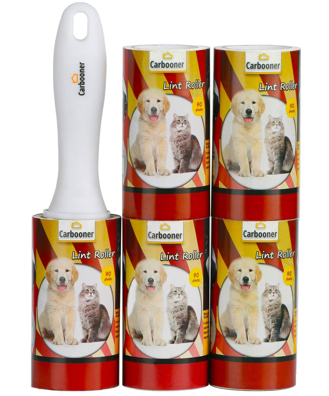 Carbooner Extra Sticky Lint Rollers - Pet Hair Remover for Clothes and Furniture 450 Sheets