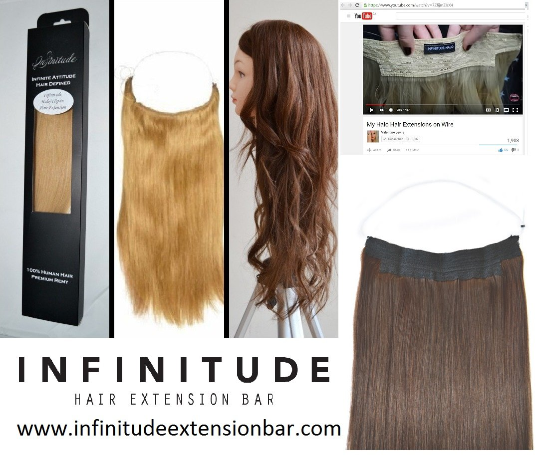 Amazon 100 Premium Remy Human Hair Halo Extension Infinitude
