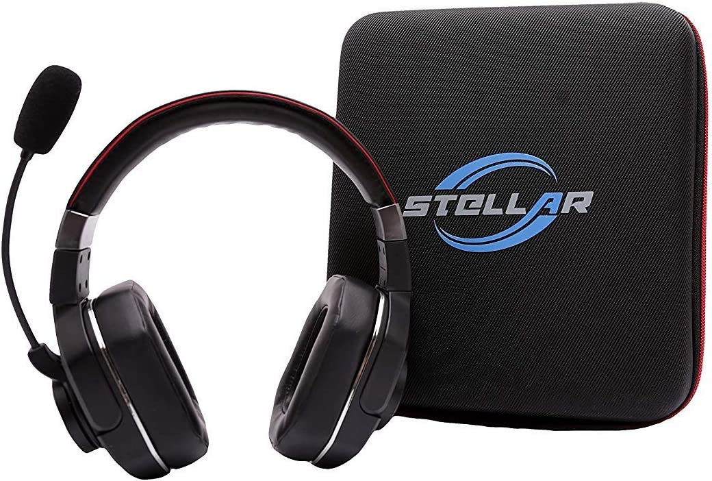 Stellar Electronic Pluto Duo Bundle – 60 Hrs Talk time, 99 NC -Best Bluetooth Headset for Truckers and Drivers