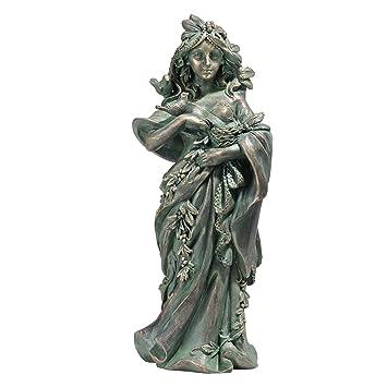 Mère et bébé magnifique bronze effet Sculpture Décoration Statue Ornement