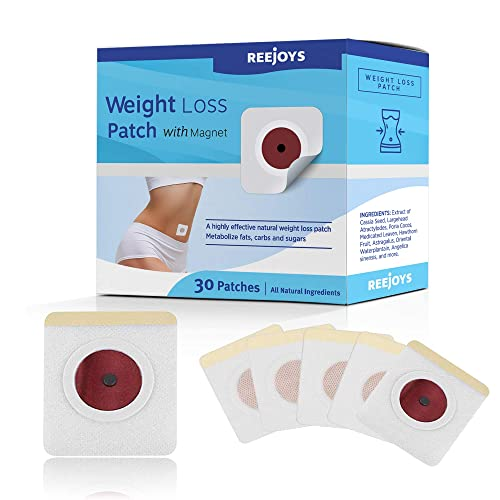 Reejoys 30pcs weight loss sticker, fat burning sticker with magnets, for waist abdominal fat, quick slimming one course of treatment