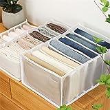LPOQW Cajón organizador de cajones con compartimentos para pantalones vaqueros, armario, cajón, separación de malla…
