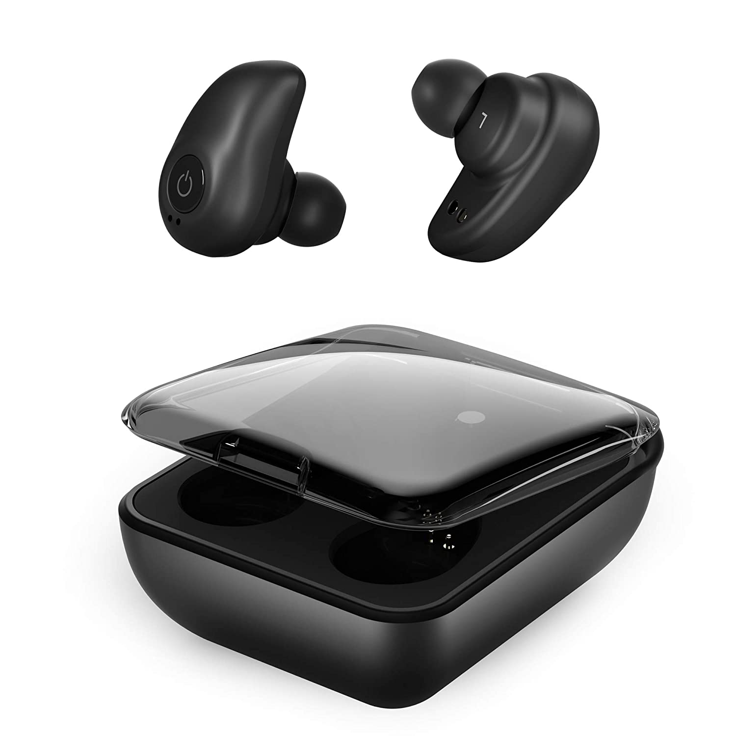 Bluetooth Wireless Earbuds for Andriod iPhone, TWS Bluetooth 5.0 Cordless Headphones Auto Pairing Earphones with Mic, 72H Cyclic Playtime Headset Single Twin Mode, 2000Mah Magnetic Charging Case