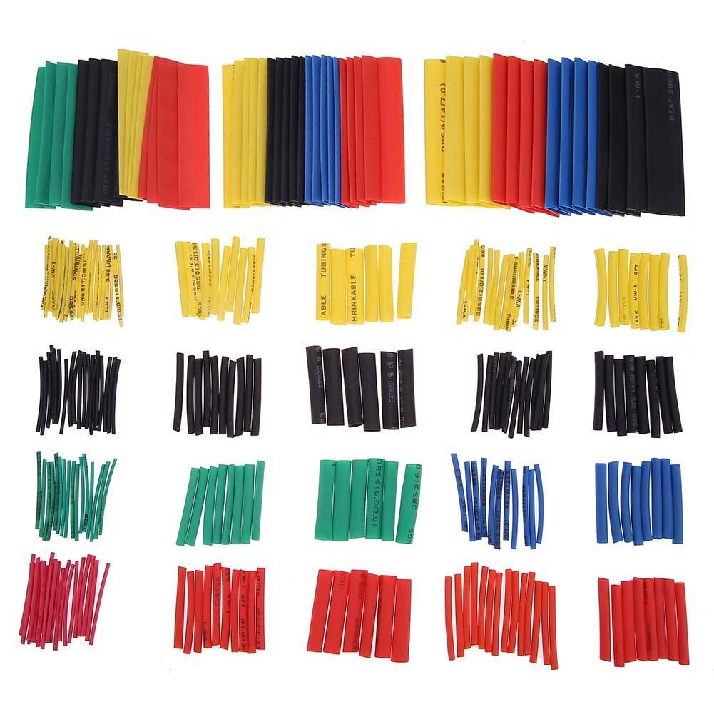 1/Tube Wrap pour c/âble 5/couleurs 8/tailles Prettygood7/chaleur Gaine thermor/étractable 328/pcs de voiture Isolation /électrique assorties Tube 2