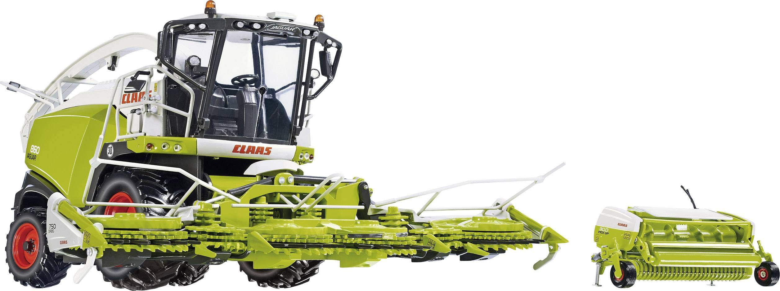 Claas Jaguar 860 Forage Harv. with Orbis 750/pick-up 300 - Model Car, Wiking 1:32