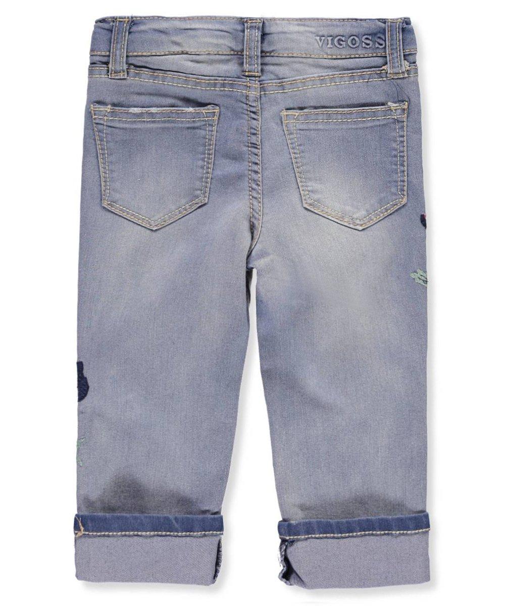 VIGOSS Toddler Girls' Fashion Crop Skinny Jean, Carib Blue, 3T by VIGOSS (Image #3)