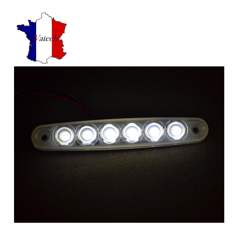 2 X 12V 6 SMD LED FEUX DE GABARIT LATERAUX BLANC POUR CAMION CARAVANE SHASSIS REMORQUE TRACTEUR FOURGON