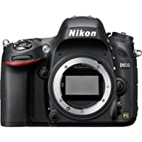 "Nikon D600 Body Fotocamera Reflex Digitale, 24,3 Megapixel, LCD 3,2"", SD 8GB Premium Lexar, colore: nero [Nital card: 4 anni di garanzia]"