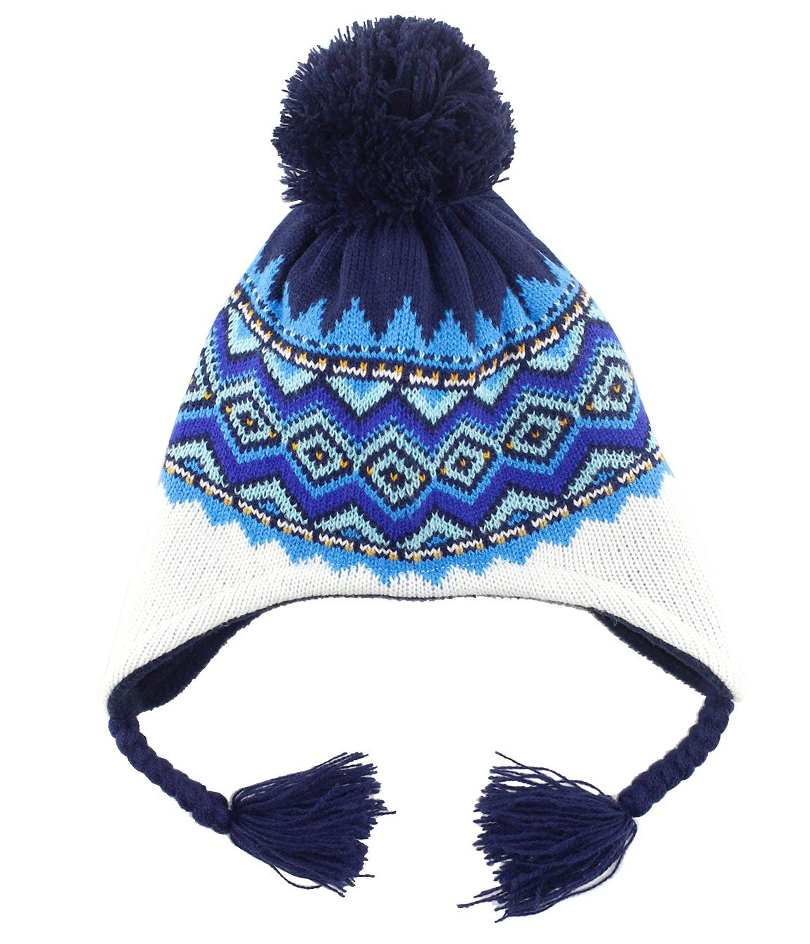 Fashinable Baby Kids Warm Earflap Hood Hat for Child Boys Winter Ski Toddler Knit Beanie Hat Cap for Christmas 2-3 T