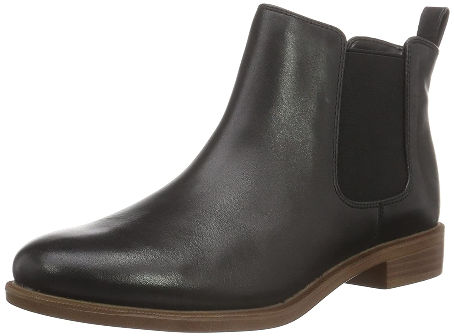 Clarks Taylor Shine, Botas Chelsea Mujer 43 EU|Negro (Black Leather)