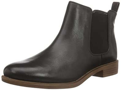 af85801c9244 Clarks Damen Taylor Shine Chelsea Boots, Schwarz (Black Leather), 36 EU
