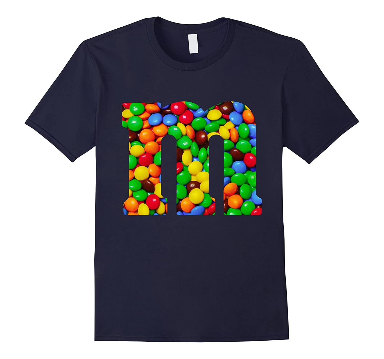 Colorful Letter M monogram alphabet Candy T-Shirts