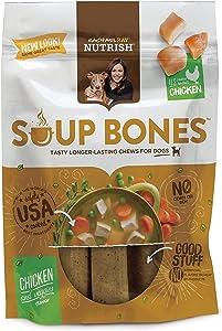 Rachael Ray Nutrish Soup Bones Dog Treats, Real Chicken & Veggies Flavor, 3 Bones, 6.3 Ounces