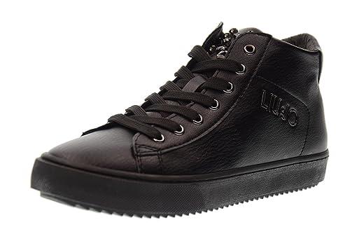 LIU-JO GIRL Scarpe Donna Sneakers Alte UM23264 Nero Taglia 40 Nero   Amazon.it  Scarpe e borse ece1a6ab060