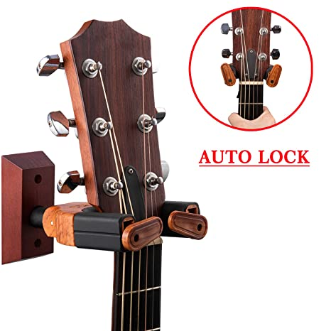 Punk guitarra pared percha Auto Lock Seguridad Soporte de pared de ...