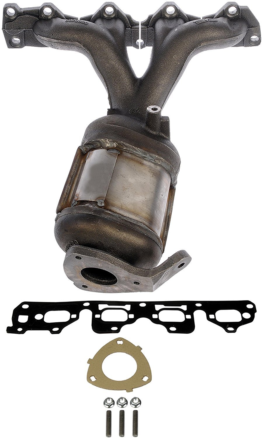 Fits 674-889 Exhaust Manifold with Integrated Catalytic Converter 2004 - 2008 Chevy Malibu, 2006 - 2008 Pontiac G6, 2007 - 2008 Saturn Aura (Non-CARB Compliant) Auto Express