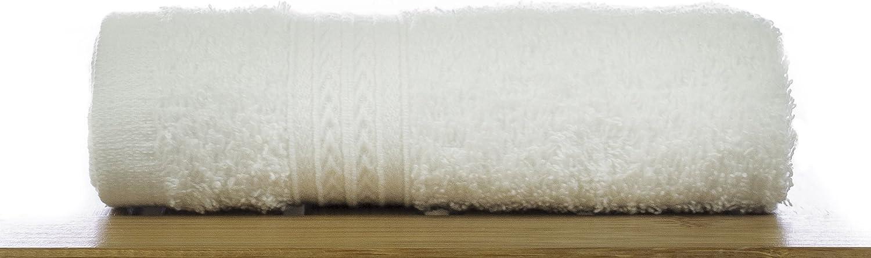 Bare Cotton 851-101-01-01 Eco Cotton Bath Towels-White-Dobby Border-Set of 4